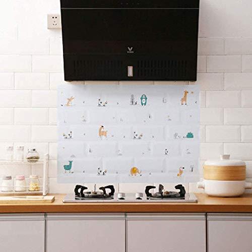 LBHH Naklejki odporne na olej, 2 sztuki, odporne na działanie oleju, wodoodporne naklejki na plamy olejowe do kuchni, odporne na wysokie temperatury i olej, naklejki do szuflad Best