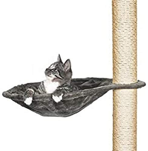 Plate forme relax pour arbre à chat avec cadre métal, ø 40 cm, gris platinium