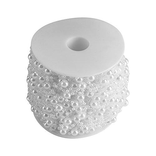 Jadpes verbindingskralen, 60 m/rol 8 + 3 mm kunstmatige parels DIY ornamenten parels gordijn bruiloft/festival party decoratie #03