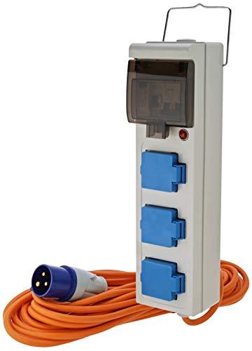 Crusader V762 Nätförsörjningsenhet med 3 Uttag, 15 meter kabel