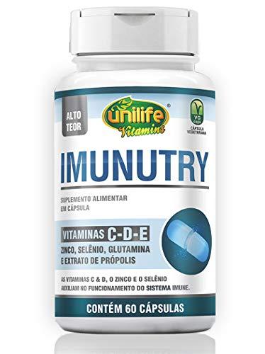 Imunutry - Vitamina C, E, D, Zinco, Selênio e Própolis 60 CÁPS./700mg - Unilife