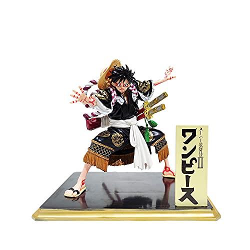 ZHWOW ワンピースモンキー・D・ルフィ歌舞伎Verアニメフィギュア彫像キャラクターモデルモデルおもちゃアクションフィギュアデスクトップデコレーション/グッズ/子供のおもちゃ/ホリデーギフト