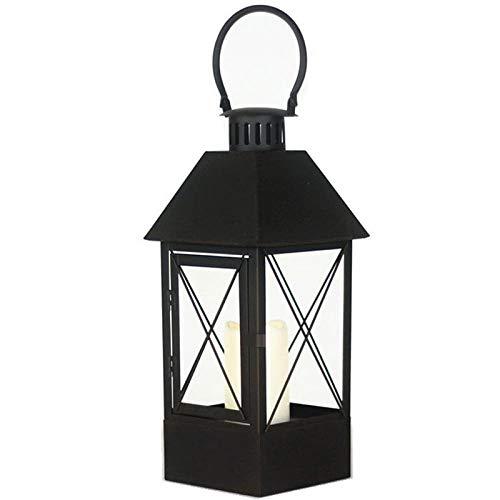 Nordic Retro IJzeren Kandelaar Houder Ornamenten LED Kaars Lantaarn Glas Romantische Wind Lamp Home Accessoires