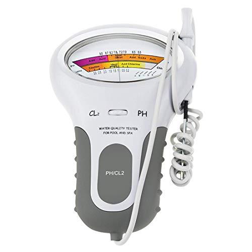 XMAGG 2 in 1 Wasserqualität Tester PH, Chlormessgerät Messgerät,Wassertester für Schwimmbad, Trinkwasser, Aquarium