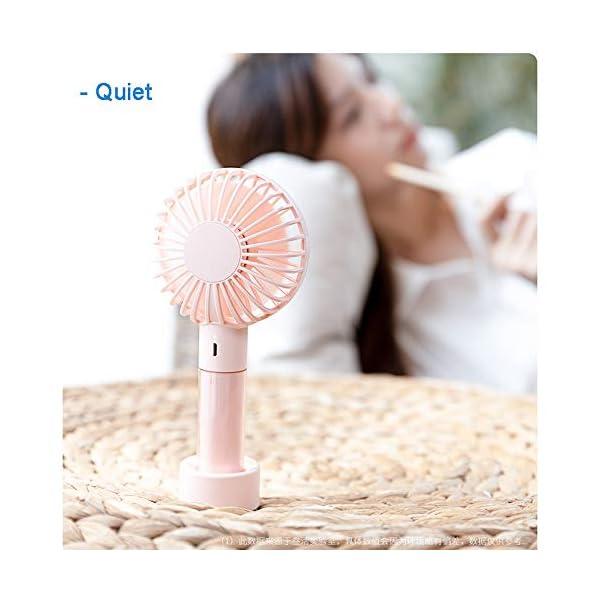 YangD-Ventiladores-USB-Silencioso-Mini-Ventilador-de-Mano-Porttil-Batera-Recargable-para-Oficina-Hogar-Viajes-Aire-Libre-Color-White