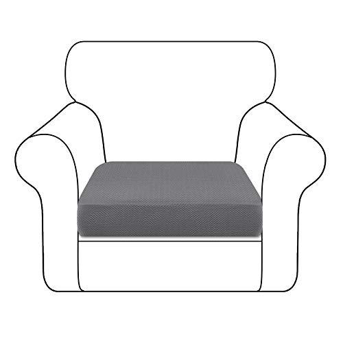 Granbest Dick Sofa Sitzkissenbezug High Stretch Sitzkissenschutz für Sofa rutschfest Möbelschutz (1 Sitzer, Hellgrau)
