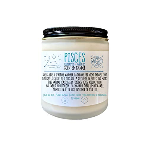 Pisces Gift Zodiac Candle Zodiac Gifts Birthday Gift Birthday Candle Birthday Gift for Her Birthday gift for Friend Holiday Gift Under 20