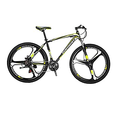 Mountain Bike X1 27.5inch Bicycle 3-Spoke Wheels 21-Speed Transmission Shock-Absorbing Front Fork Front and Rear disc Brakes 3 Spoke Wheels Mountain Bicycle