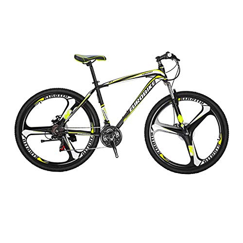 LZBIKE BICYCE X1-27.5 Mountain Bike 21 Speed Shift Left 3 Right 7 Frame Shock Absorption Mountain Bicycle 3-spoke wheels 27.5inch