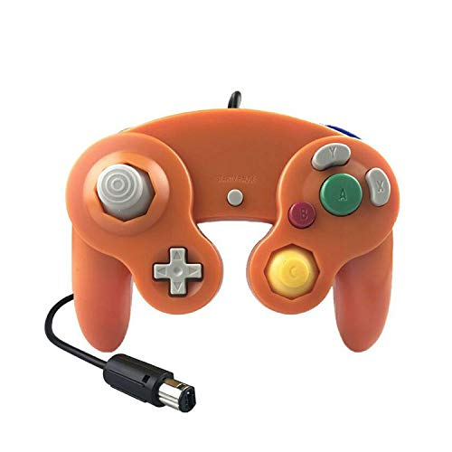 Pc Game Controller Wireless, Gamepads Game Controller Pad Joystick Para Game Cube O Para Niños Mas Gift-Dark Orange-