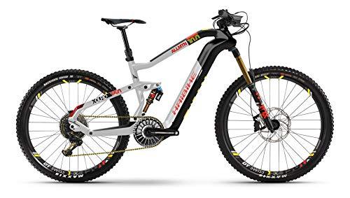 HAIBIKE XDURO AllMtn 10.0 Flyon Elektro Bike 2021 (M/44cm, Carbon/Silber/Rot Matt)