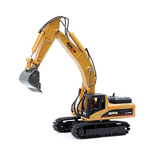 1/50 Scale Diecast Crawler Excavator, Metal Construction Vehicle Models Toys for Kids (Crawler Excavator)