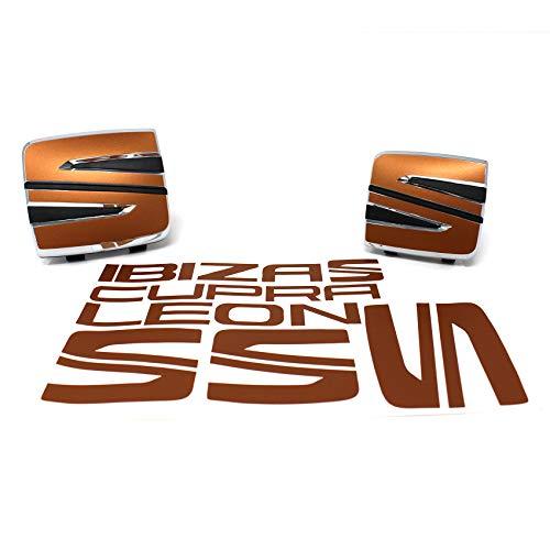 Finest Folia SE03 Emblema Set Delantero + Trasero Incluye Juego de Letras