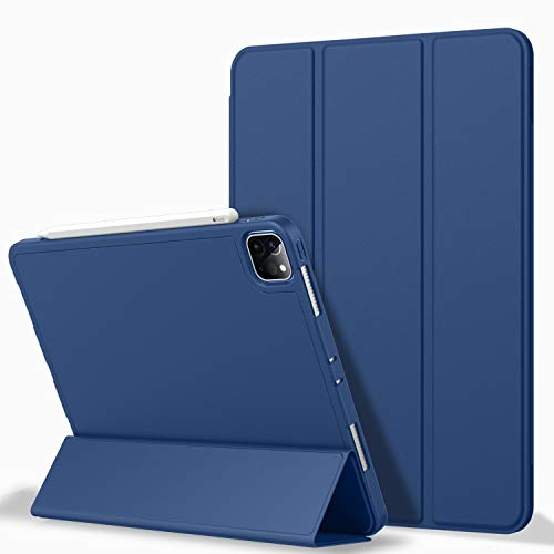 iPad Pro 11 Case 2020 with Pencil Holder (2nd Generation), ZryXal Premium Protective Case Cover with Soft TPU Back and Auto Sleep/Wake Feature for 2020/2018 iPad Pro 11 (Navy Blue)