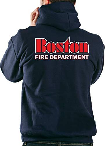 feuer1 Survêtement à Capuche Bleu Marine Boston Fire Dept, de Boston Inscription XXL Bleu Marine