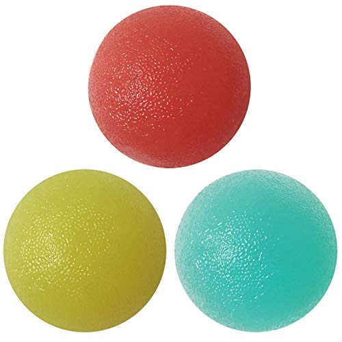 Hand Therapy Balls, Stress Relief Ball for Adults and Kids,for Reduce Anxiety and Hand Exercise and Strengthening, Finger Resistance Exercise, Wrist Arthritis Pain Relief ,Set of 3 Squeeze Ball(Round)