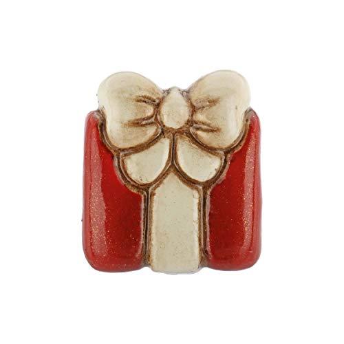THUN - Orecchino Singolo Pacco Regalo - Gioielli Donna - Orecchini - Linea Basic - Ceramica, Ottone Rodiato, Acciaio Inossidabile - 1 h x 1 x 0,4 cm