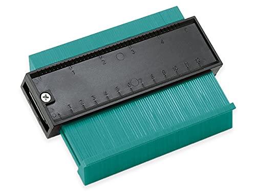 Blanko Medidor de contorno, medidor de contorno para perfiles irregulares, azulejos, etc., alfombras y laminados, ancho 12 cm