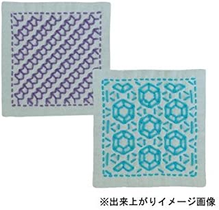 オリムパス 刺し子キット 一目刺しのコースター(2枚組) 矢羽根、ダイヤモンド SK-299