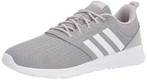 adidas Women's QT Racer 2.0 Running Shoe, Grey/White/Grey, 6.5