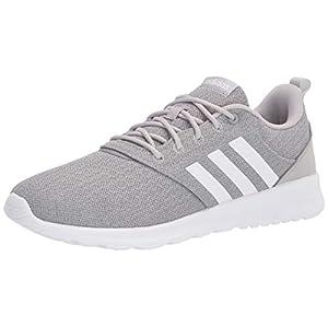 adidas Women's QT Racer 2.0 Running Shoe, Grey/White/Grey, 8
