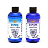 RnA ReSet - ReMag High Absorption Magnesium Liquid, ReMyte Mineral Solution, 12 Minerals Including Iodine, Selenium, Zinc, Magnesium, Boron, 240 ml Each - by Dr. Carolyn Dean