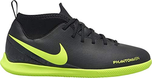 Nike Kids' Phantom Vision Club Dynamic Fit Indoor Soccer Shoes (12.5 Little Kid M) Black/Green