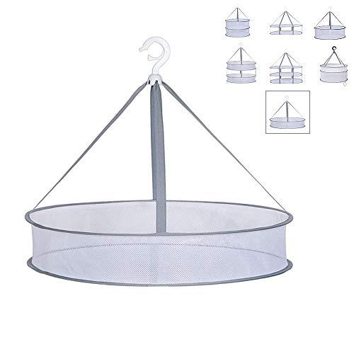 平干し ネット 物干し ネット1段 構造 大容量 防風 セーター干し 柵 折りたたみ 通気 ドライネット 室内の外ニットメッシュ干しネットかご(61cm)