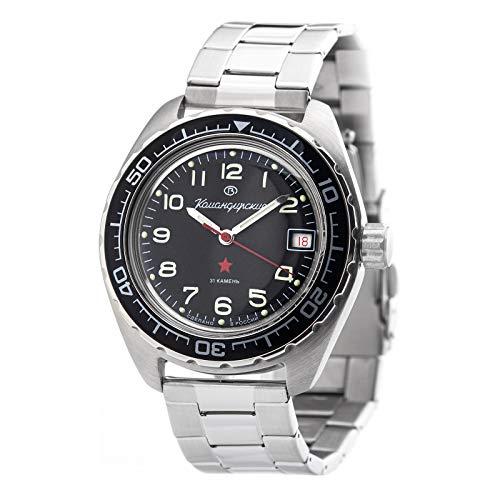 VOSTOK Wostok Komandirskie Taucheruhr 200m Automatik 2416/020706 russische mechanische Uhr aus Russland