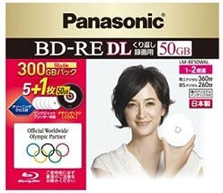 パナソニック 2x録画ブルーレイディスク片面2層50GB(書換型)6枚 LM-BE50W6L
