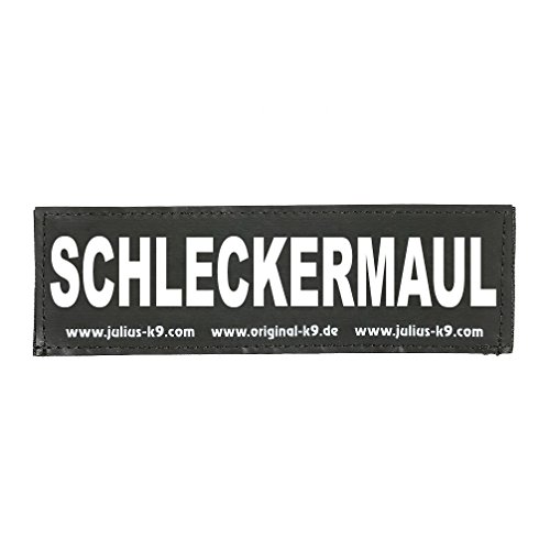 Julius-K9 162LR-K-54436 Klettaufschrift, SCHLECKERMAUL, klein, schwarz