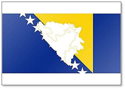 Kühlschrankmagnet, Karte & Flagge von Bosnien & Herzegowina