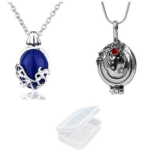 JinYu 2er Pack Halskette und Daywalking Katherine Halskette Anhänger Charm Halskette-Königsblau mit transparenter Box