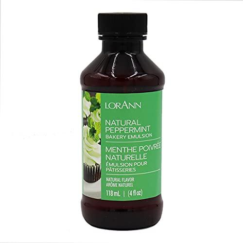 LorAnn Peppermint Bakery Emulsion, 4 ounce bottle