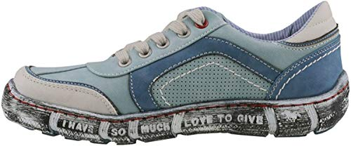 MUSTANG Damen Halbschuhe Blau, Schuhgröße:EUR 38