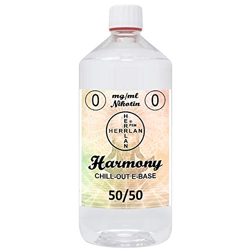 E-Base Harmony - 50/50 I 1000 ml I Ohne Nikotin I Herrlan - Made in Germany