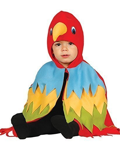Fancy Me Baby Jungen Mädchen bunt Papagei Vogel Umhang Dschungel Kostüm Kleid Outfit 12-24 Monate