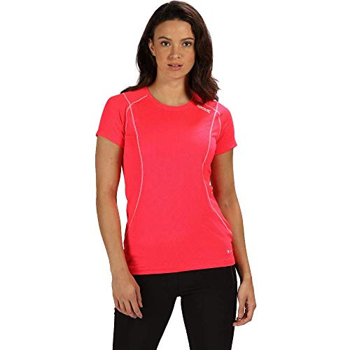 Regatta Damen Virda III Quick Drying Active Sports T-Shirt, neon pink, Größe 12