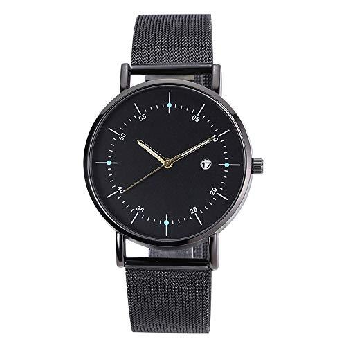 Quartz Uhr, Luotuo Damen Mode Analog Quarz Armbanduhr Glasspiegel mit Legierung Uhrenarmbänder,Ø38mm Zifferblatt Simple Business Beiläufig Watch für Frauen