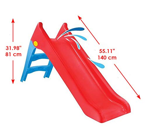 Woopie! Large Kids Water Slide Outdoor Garden Childrens toys for toddlers | Large slide for toddlers babies toys activity | Freestanding slide for Children (Red)