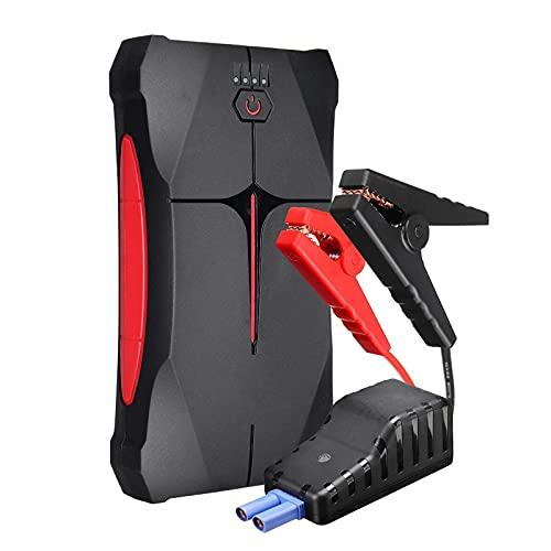 Arrancador de Batería de Coche Paquete De Refuerzo De La Batería De 1000a 13800mAh con DIRIGIÓ Linterna USB Puerto Fácil de Conectar (Color : Black, Size : 13800mAh)