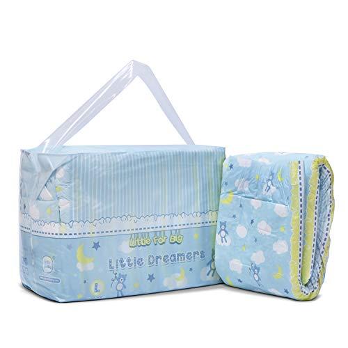 LittleForBig gedruckt Erwachsenen Slip Windeln Erwachsene Baby-Windel-Liebhaber ABDL 10 Stück-kleine Träume L