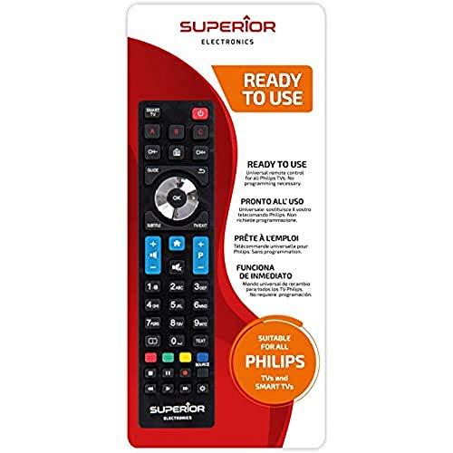 Superior PHILIPS Replacement - Telecomando di ricambio universale compatibile con tutti i TV e SMART TV di marca PHILIPS - Pronto all'uso non richiede programmazione