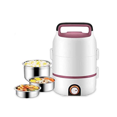 KaiKai Persönliche E-Brotdose, Multifunktions-Elektroherd Skillet Wok Elektro Hot Pot for Koch Reis gebratene Nudeln Eintopf