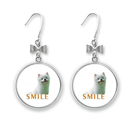 Smile Dogs Pets - Pendientes de lazo con diseño de perro con forma de perro