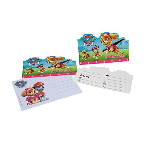 Lively Moments 6 Cartons D'Invitation, en Rose de Paw Patrol pour Un Anniversaire d'enfant / Geburtstagsdekoration