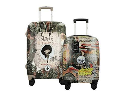 Anekke Jungle 30710 - Juego de maletas rígidas
