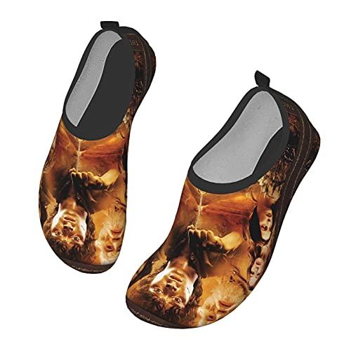 KangZiXunWJH Th_E Lo_Rd O_F Th_E Ri_Ngs - Zapatillas de deporte acuático de secado rápido para yoga para hombres y mujeres, color Negro, talla 36.5/38.5 EU