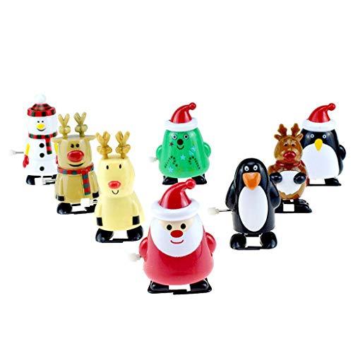 Luccase 8 Stücke Weihnachten Stil Uhrwerk Spielzeug Weihnachten Aufziehspielzeug Sortiment Geschenk für Weihnachten Party Favors Bag Filler, 7x4x3 cm