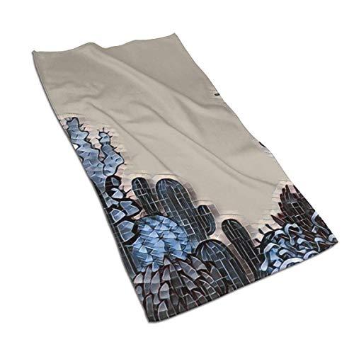 637 Pool Towel Arizona Desert Themed Doodle Cactus De Secado Rápido Único Unisex Toalla De Piscina Ultra Suave 80X130Cm Adulto Duradero Toalla De Baño Hotel Toallas De Baño